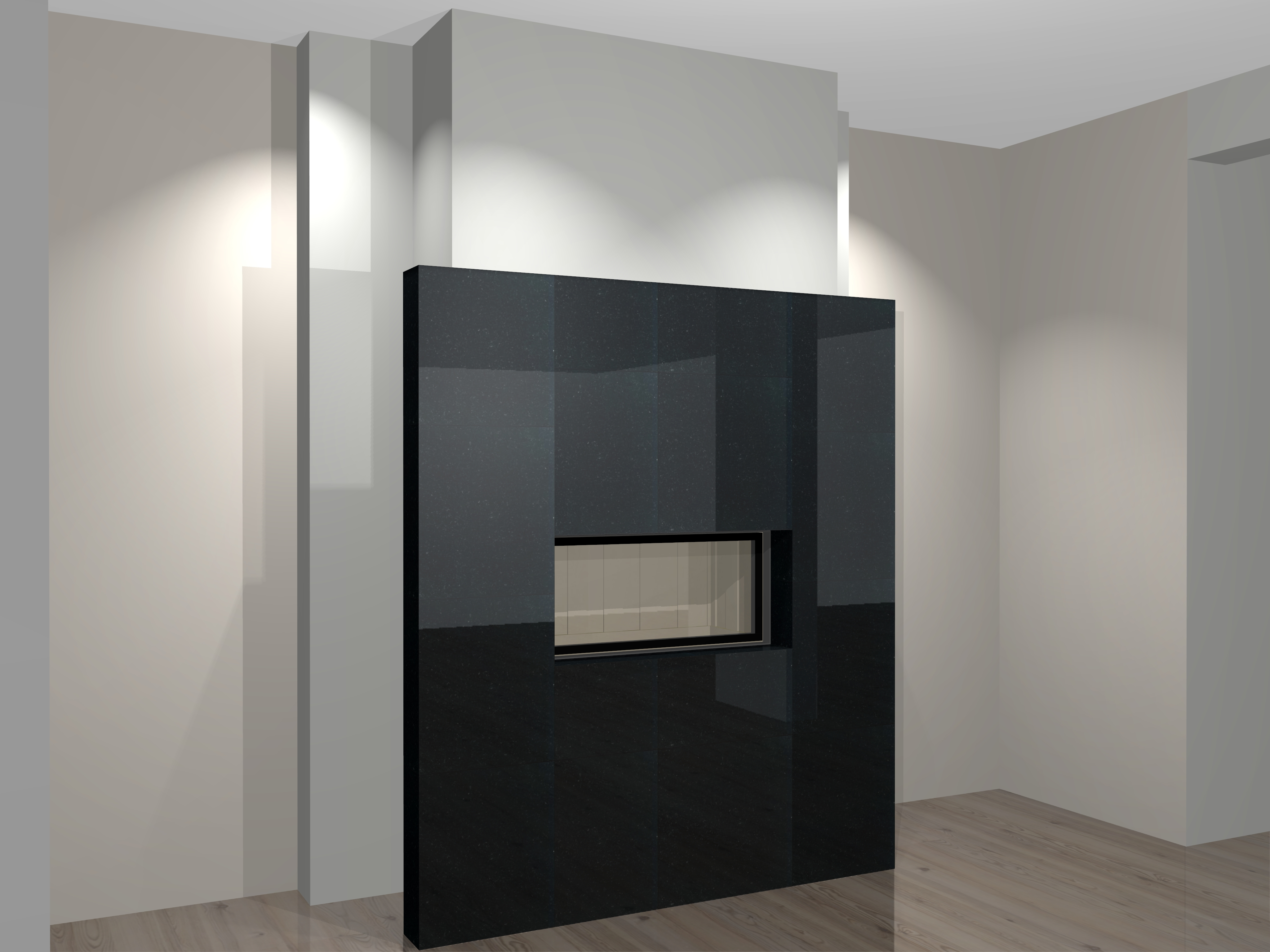 moderner kamin a 44 1mit spartherm mit montage www. Black Bedroom Furniture Sets. Home Design Ideas