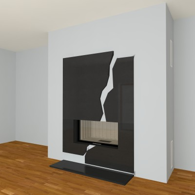 moderner kamin a 29 mit spartherm mit montage. Black Bedroom Furniture Sets. Home Design Ideas