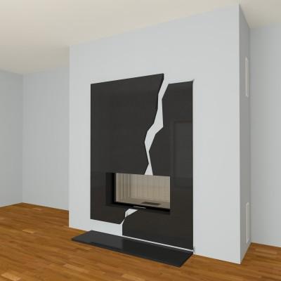 moderner kamin a 29 mit spartherm mit montage. Black Bedroom Furniture Sets. Home Design Ideas