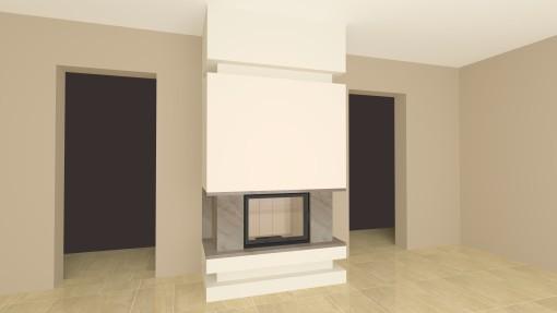 moderner kamin a 29 3 mit spartherm mit montage www. Black Bedroom Furniture Sets. Home Design Ideas