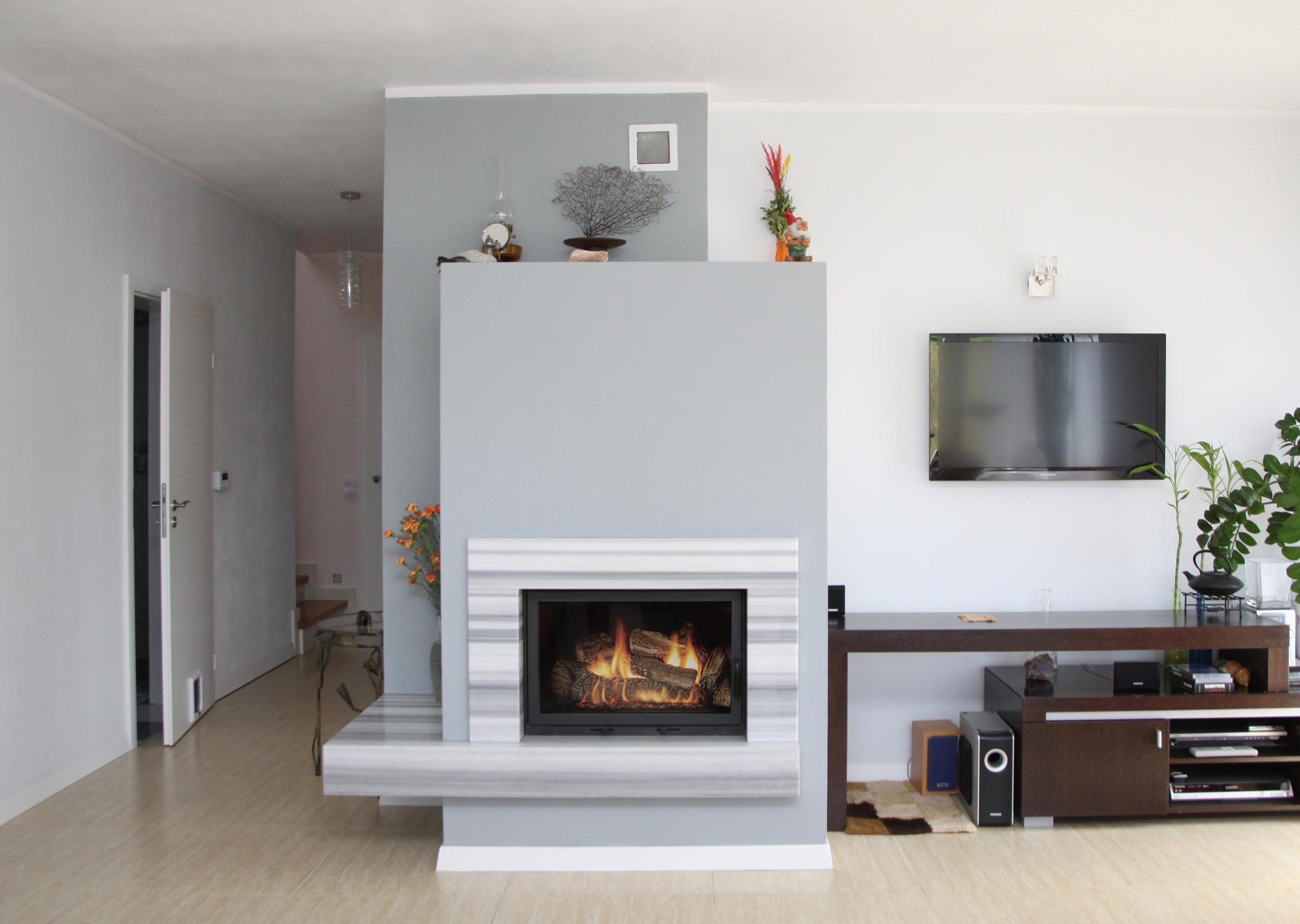 moderner kamin a 32 mit spartherm mit montage. Black Bedroom Furniture Sets. Home Design Ideas