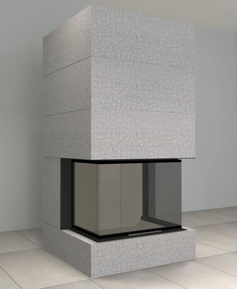 brunner systemkamin bsk 05 panorama mit montage www. Black Bedroom Furniture Sets. Home Design Ideas