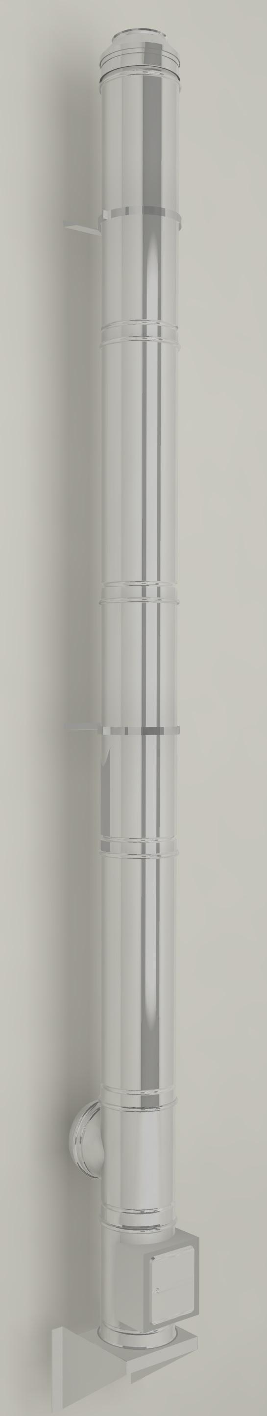 edelstahlschornstein doppelwandig isoliert bausatz 150mm 10m. Black Bedroom Furniture Sets. Home Design Ideas