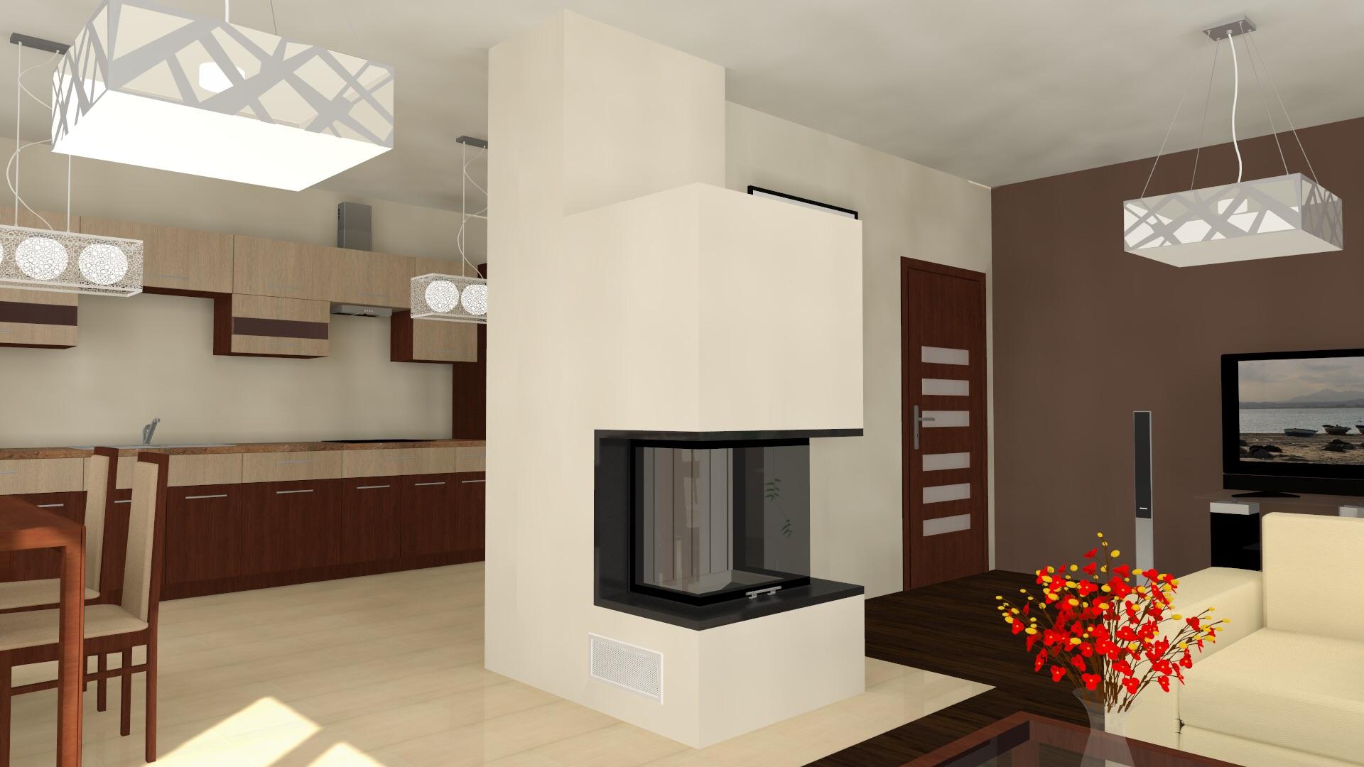 dreiseitiger moderner kamin zp11 mit spartherm mit montage. Black Bedroom Furniture Sets. Home Design Ideas
