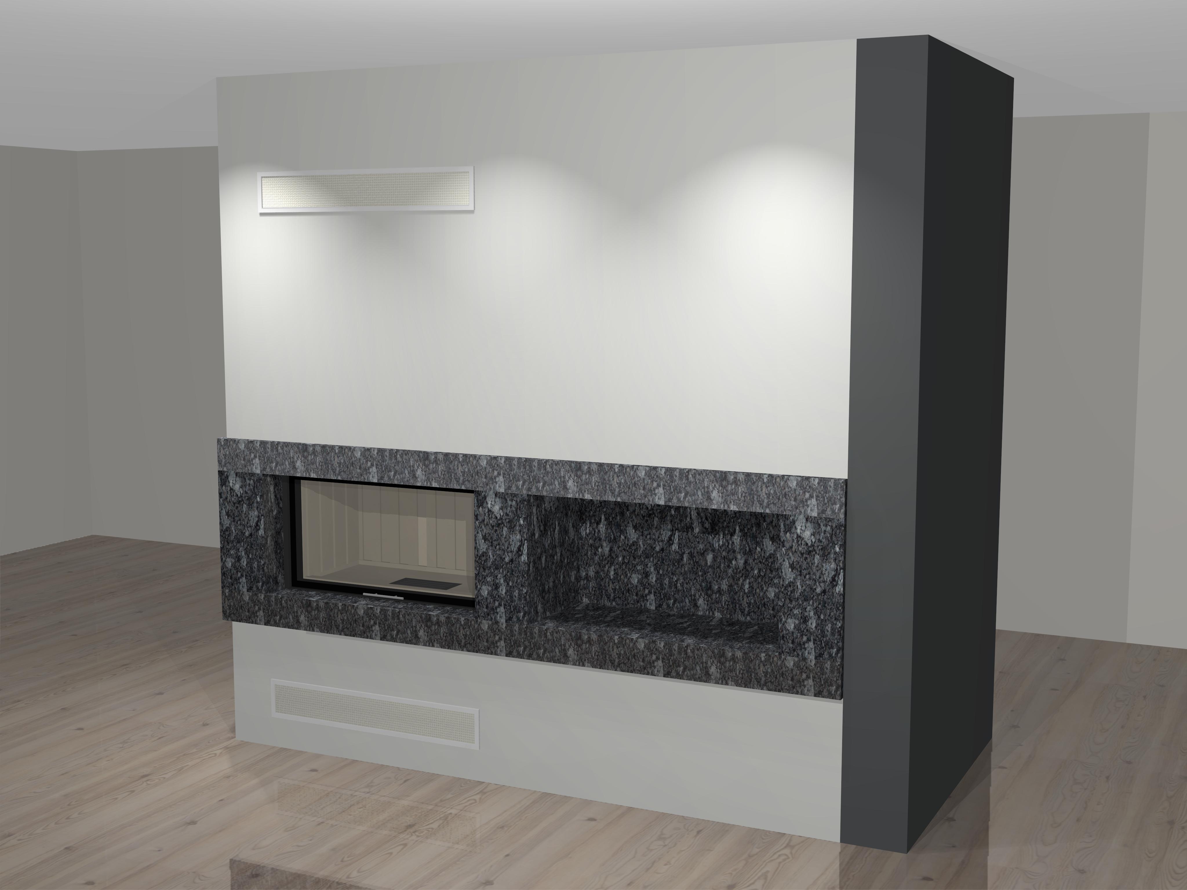 moderner kamin a 12 1 mit spartherm mit montage. Black Bedroom Furniture Sets. Home Design Ideas