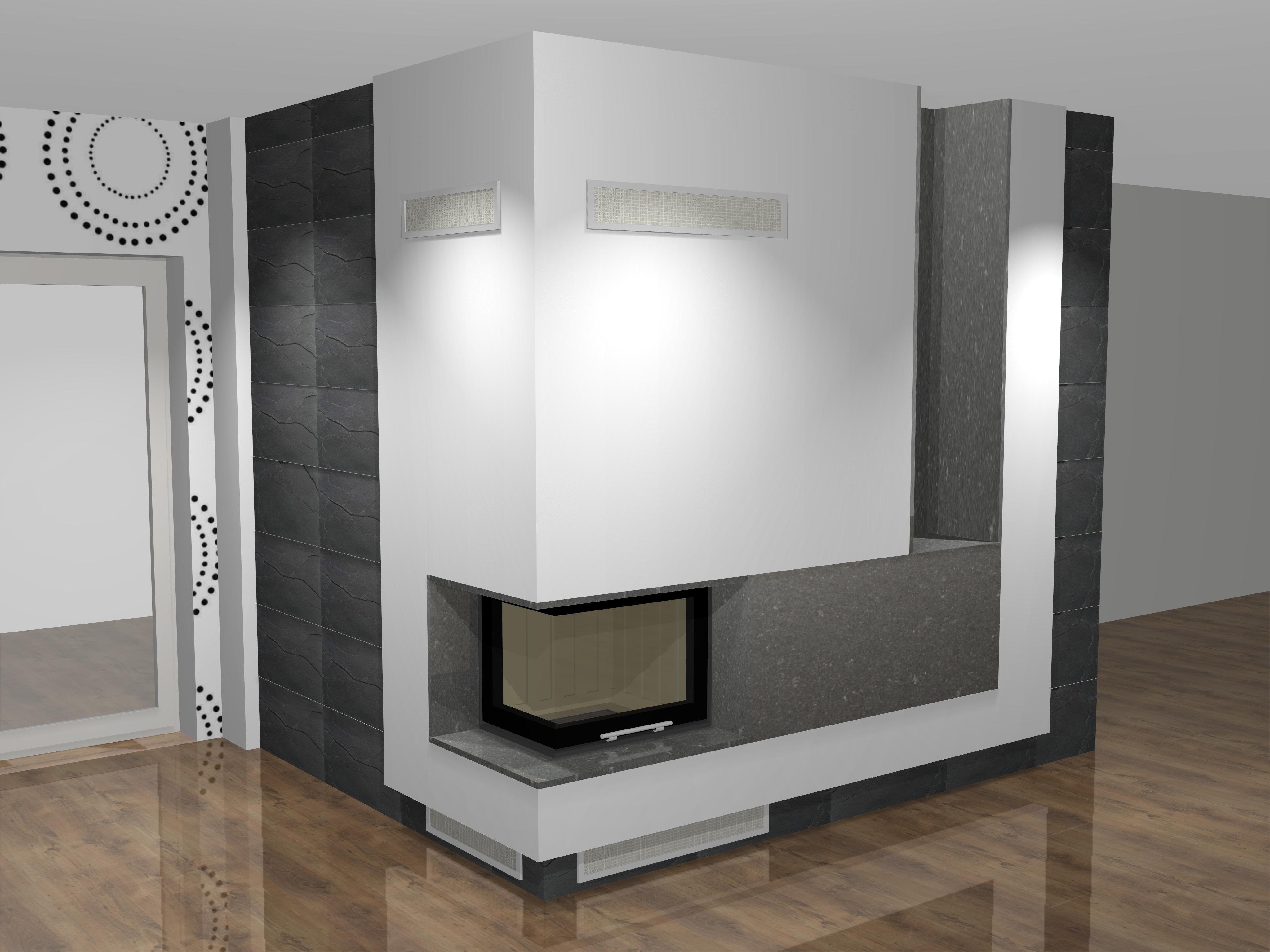 eckiger kamin a 42 2 mit spartherm mit montage www. Black Bedroom Furniture Sets. Home Design Ideas