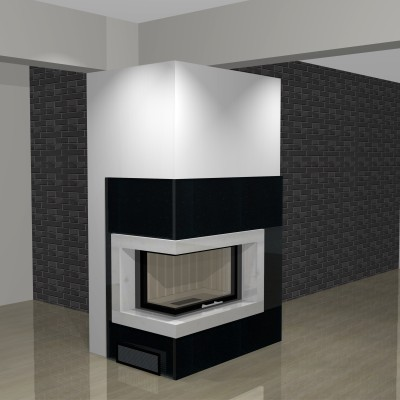moderner kamin wasserf hrend wa12 4 mit montage www. Black Bedroom Furniture Sets. Home Design Ideas