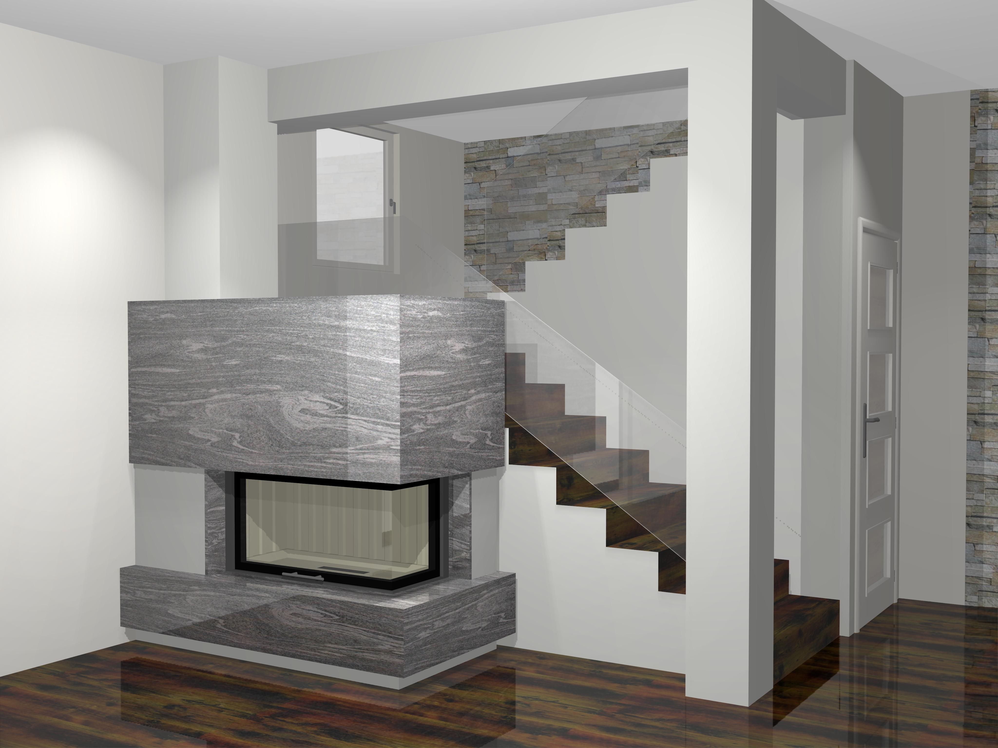 moderner kamin c 03 3 mit spartherm mit montage. Black Bedroom Furniture Sets. Home Design Ideas