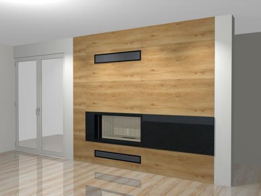 moderner kamin a 12 4 mit spartherm mit montage. Black Bedroom Furniture Sets. Home Design Ideas