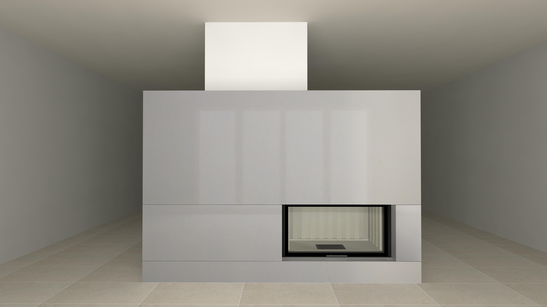 moderner kamin a 01 3 mit spartherm mit montage. Black Bedroom Furniture Sets. Home Design Ideas