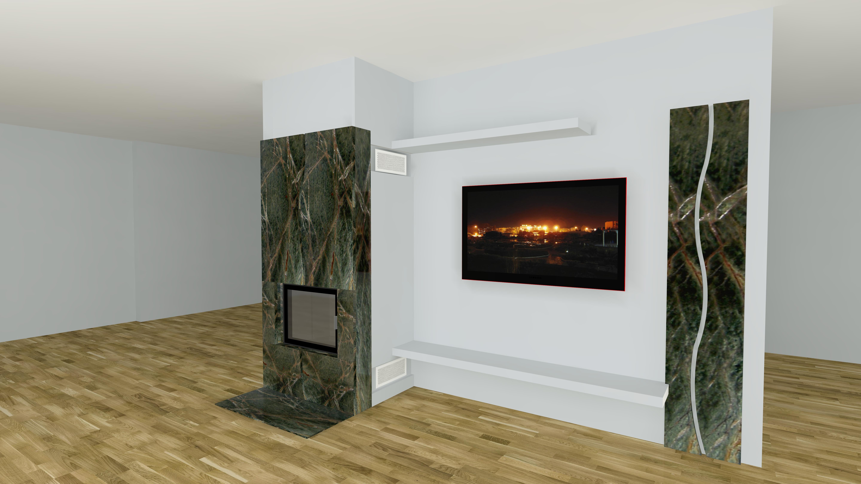 moderner kamin a 02 2 mit spartherm mit montage. Black Bedroom Furniture Sets. Home Design Ideas