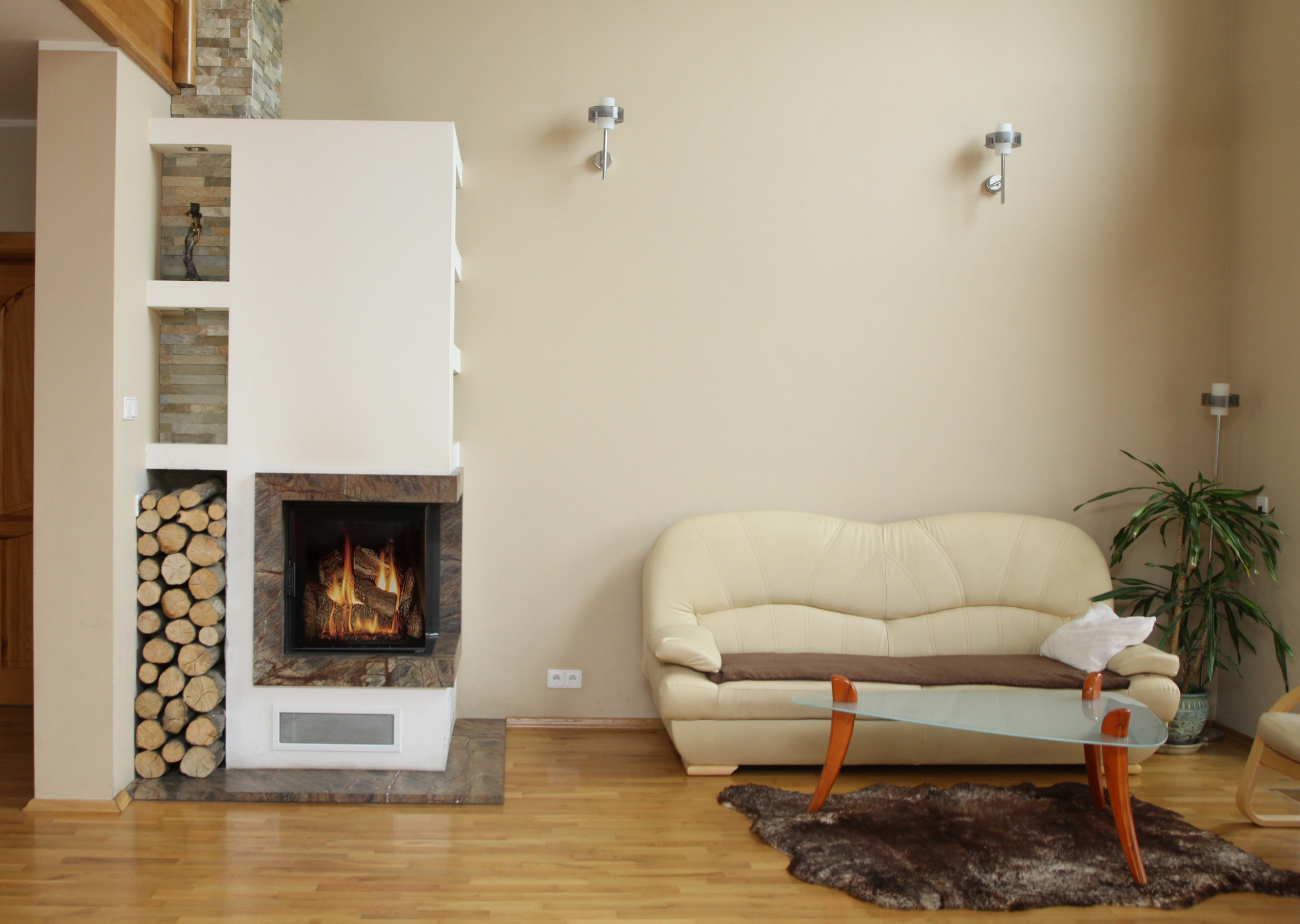 eckkamin modern a 09 mit spartherm mit montage www. Black Bedroom Furniture Sets. Home Design Ideas