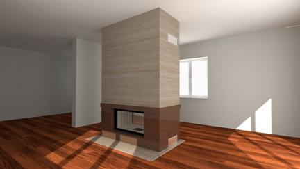 moderner kamin a 44 4 mit spartherm mit montage. Black Bedroom Furniture Sets. Home Design Ideas