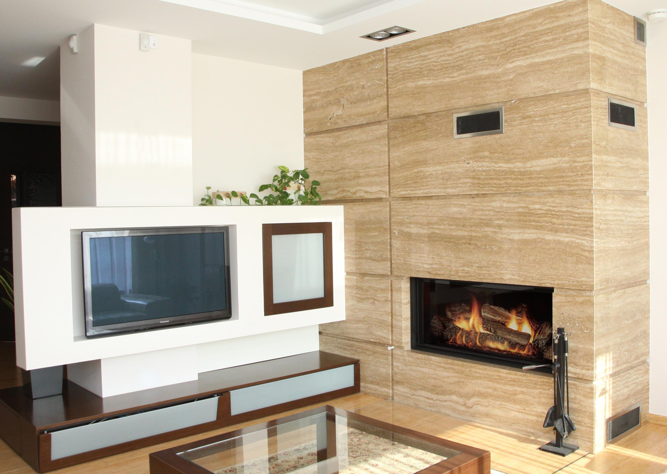 moderner kamin a 44 mit spartherm mit montage. Black Bedroom Furniture Sets. Home Design Ideas