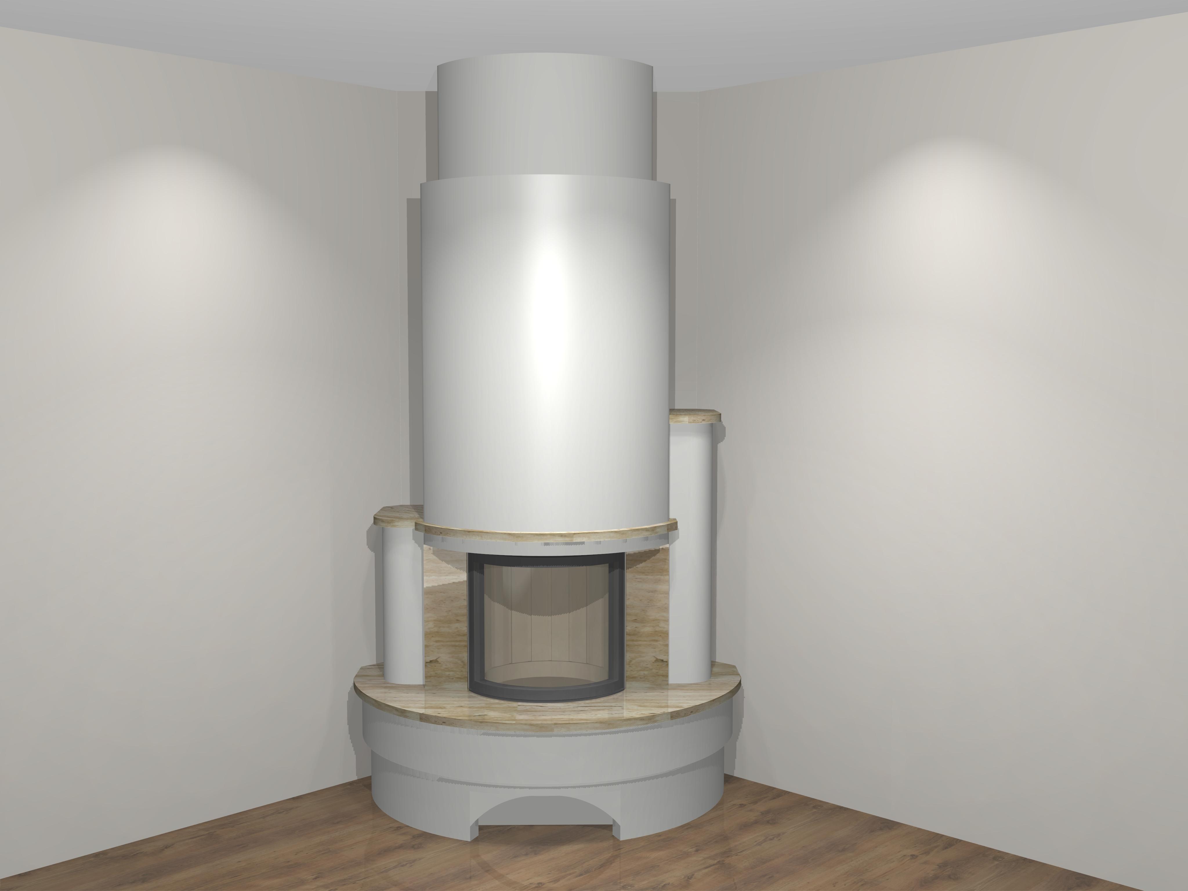moderner kamin als rund a 08 1 mit montage. Black Bedroom Furniture Sets. Home Design Ideas