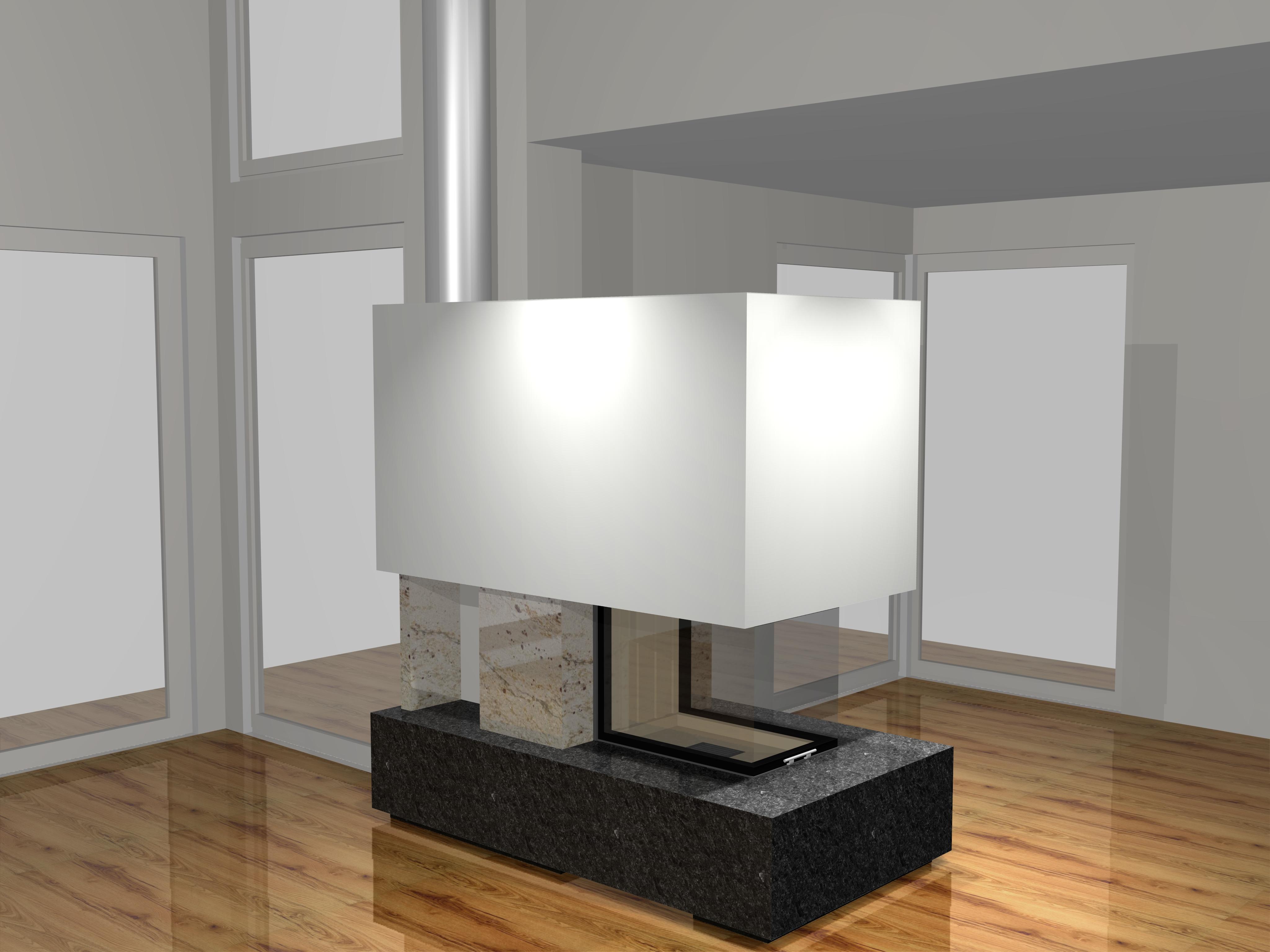 dreiseitiger gaskamin a26 2 mit montage. Black Bedroom Furniture Sets. Home Design Ideas